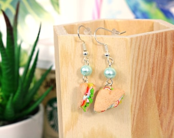 Earrings ~ realistic sandwiches