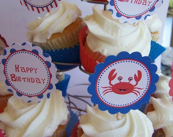 Mr. Crab Collection Printable Party Rounds by The Birthday House