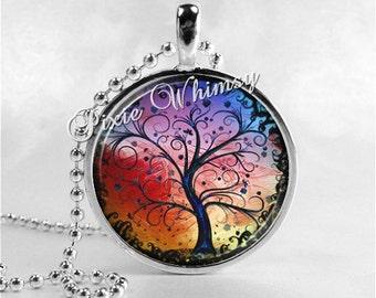 TREE Necklace, Tree Pendant, Tree Necklace, Colorful Tree Pendant, Tree Jewelry, Abstract Tree, Watercolor Tree, Abstract Art, Curly Tree