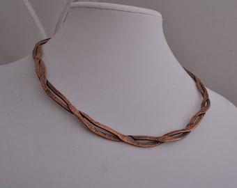 Twisted Copper Choker