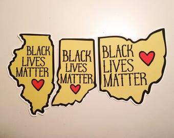 BENEFIT for Black Lives Matter Sticker: choose your state!