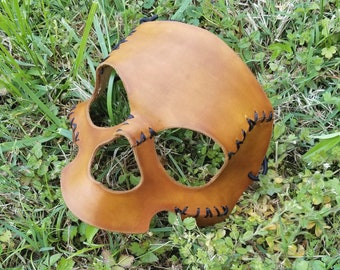 Death Mask in bone brown, ready to ship!