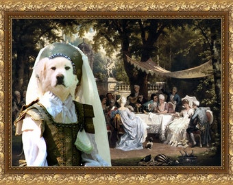 Great Pyrenees Art CANVAS Print Fine Artwork  Dog Portrait Dog Painting Dog Art Dog Print   Perfect Dog Lover Gift for Her Gift for Him