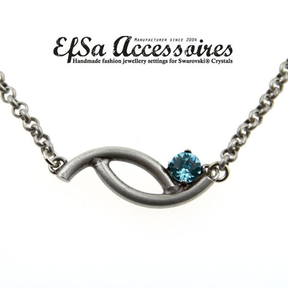 Empty cup chain necklace for SWAROVSKI® ELEMENTS no.1088 or