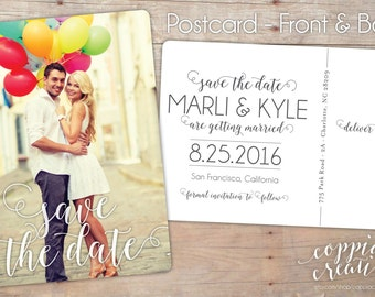 Save the Date Postcard - Photo Save the Date - Save the Date Card - Postcard