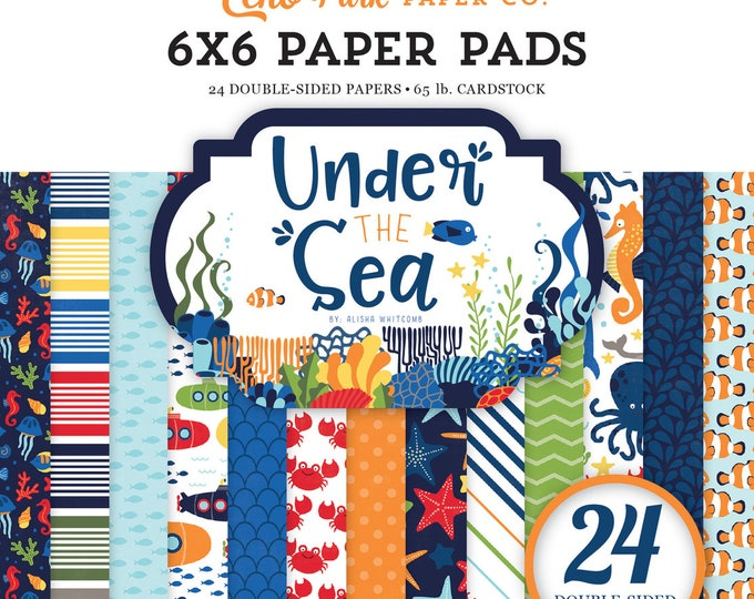 Echo Park Paper UNDER THE SEA 6x6 Scrapbook Paper Pad