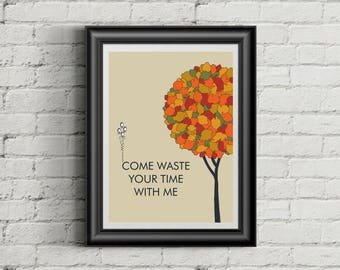 PHISH Inspired Phan Art Poster Print   11 x 14   Waste   Lyric Art   Home Decor   Wall Art