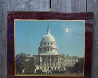 Vintage Capitol Building Perma Plaque