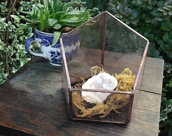 Lavender Stained Glass Terrarium