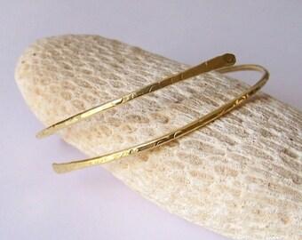 Gold Arm Cuff - Brass Armband - Minimalist Textured Arm Band - Upper Armlet - Armlet - Gold Upper Arm Bracelet - Upper Arm Jewelry