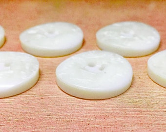 Vintage Pearlized Plastic Buttons - Chunky Vintage Faux MOP Buttons - Vintage Plastic Buttons - Sewing - Craft Supplies - B61 - 6 Buttons