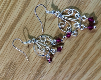 Up cycled swavorski crystal earrings