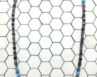 Square Beaded Necklace