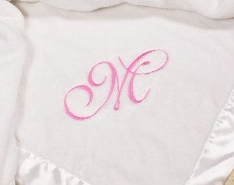 Embroidered Initial Blanket for Baby -gfyE363432