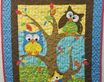 Owl Tree baby quilt