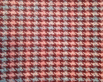 Purple Blue Red Plaid Curtain Upholstery Fabric- 2.5 yards Ready to Ship