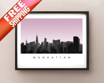 Midtown Manhattan Skyline - New York City Poster Print - NYC Art