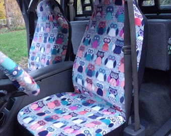 1 Set of Sadie Owl, Seat Covers and the  Steering Wheel Cover  Custom Made.