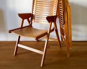 A Niko Kralj Rex Lounge chair, folding armchair, folding chair. Execution in Beech.