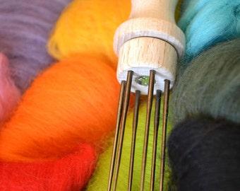 6-Needle Felting Needle Holder -- Needle Felting