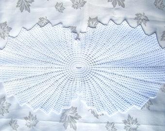 Shell doily white cotton