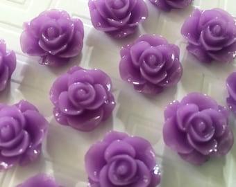 Cute Purple Thumbtacks or Magnets - set of 12 - dorm decor, office decor, hostess gift, baby shower, wedding, bridal shower, teacher gift