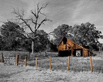 Old Brown Barn- Fine Art Photography