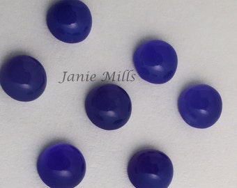 Blue Onyx 4mm cabochon sold as a pair