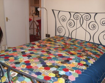 Vintage Patchwork Bed Spread/Throw