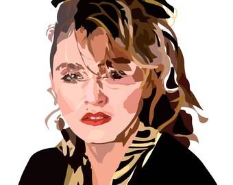 Madonna - Art Print - 80s - Music - Vintage - Portrait - Illustration