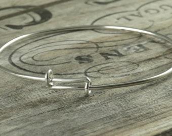 Adjustable Sterling Silver Bangle Bracelet - Perfect For Charm Bangles - Adjustable Bracelet - Sterling Bangle - Sterling Silver Bangle
