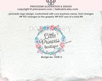 1438-2   floral logo, wreath logo, logo branding,  boutique logo, business branding, business logo design, watermark, photography branding
