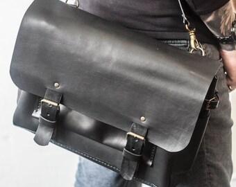 Leather messenger bag, men leather bag, laptop messenger bag, leather handbag, crossbody bag purse, leather satchel, leather bag purse
