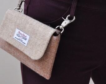 HARRIS TWEED fabric belt bag/hip bag/fanny pack/waist bag/phone bag - Original