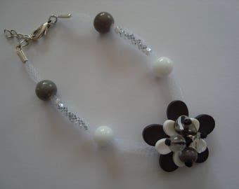 Original grey and white color bracelet