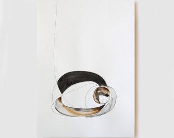 Original abstract art, ink drawing, nature, abstract ink painting, minimal line art, ink art, minimalist art, modern art by Cristina Ripper