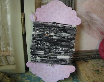 Sparking Silver Black Gray White Yarn Trim Scrapbook Junk Journals Mini Albums Tags Mixed Media Art Supplies Paper Craft Supplies