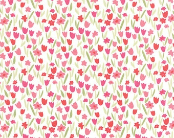 Aria Abloom in Cloud Rose, Kate Spain, 100% Cotton, Moda Fabrics, 27236 11