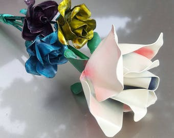 Handmade unique metal flower bouquets. Great gifts for that special person in your life. Romantic  + Love