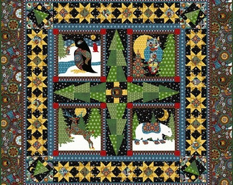 Quilt KIT, A Celestial Winter by Jason Yenter, In the Beginning Fabrics, Applique Quilt, Christmas Quilt, Woodland Christmas