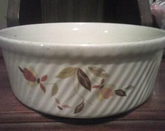 """Hall""""s Jewel Tea Mary Dunbar Autumn Leaf Souffle Dish"""