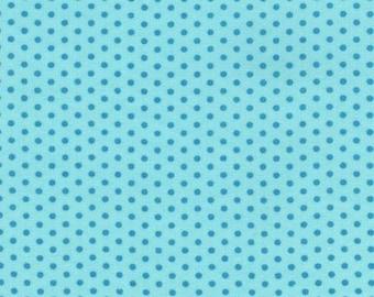 Spot On Turquoise Tone on Tone Mini Dots From Robert Kaufman Fabrics - 100% Cotton Fabric