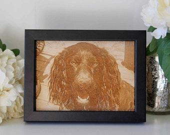 Custom Wood Pet Photo Engraving - Personalised Photo Engraving
