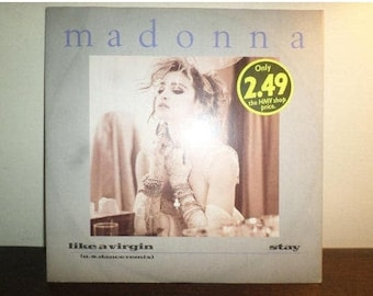 Vintage 1984 Vinyl EP Record Like A Virgin Madonna Excellent Condition 8890