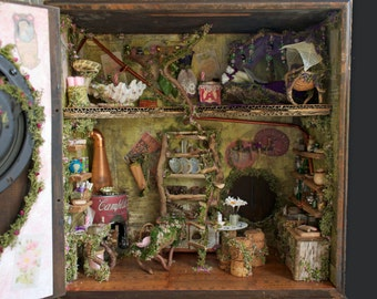 Fairy House for a House Fairy, Mouse or Borrower in a Vintage Marconi Speaker