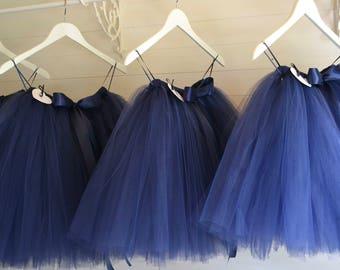 Navy blue flower girl tutu skirt, flower girl dress, girls tutu,  bridesmaid, ballet tutu, tutu, baby tutu, wedding tutu, girls tutu skirt