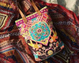 Neon Bag Summer outdoors Bohemian Bag/ Beach bag / Beach totes / Boho tote bag