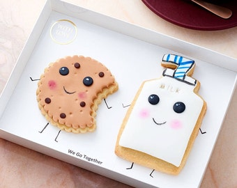 Cute Kawaii  cookies (We Go Together) gift box
