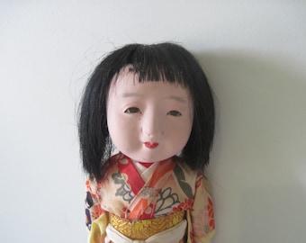 Old Vintage Japanese Ichimatsu Gofun Geisha Doll C1940