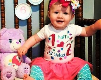 1/2 birthday/6 month birthday/6 month Birthday Bodysuit/baby headband/Babies Birthday/Birthday Bodysuits/Birthday headbands/birthday outfits